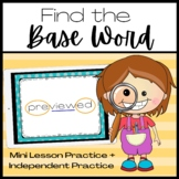 Find the Base Word PowerPoint Lesson and Activity