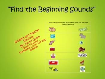 Find the Beginning Sound #2