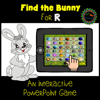 Find the Bunny PowerPoint Game for Articulation of R