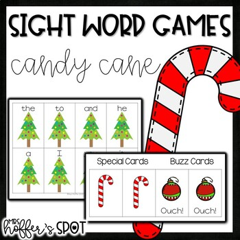 Candy Cane Sight Word Game