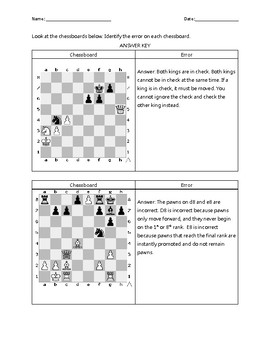 Find the Chess Errors