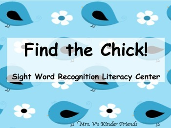 Find the Chick: A Sight Word Literacy Center