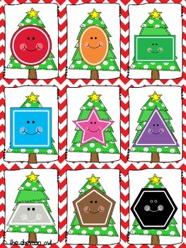 Find the Christmas Pickle Colors and Shapes Pocket Chart Activities