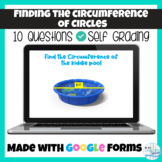 Find the Circumference of a Circle Google Form for a Quiz,