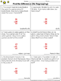 Find the Difference (No Regrouping): 2-digit Subtraction Problem Practice Sheets