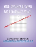 Find the Distance Between Two Points (same x/y coordinate)