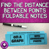 Distance Formula Foldable Notes
