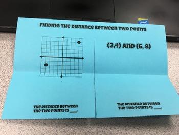 Distance Formula Foldable Notes