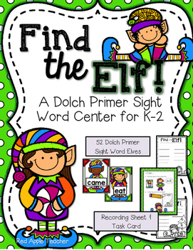 Find the Elf--Dolch Sight Word Center for K-2