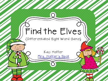 Find the Elf {Sight Word Game}