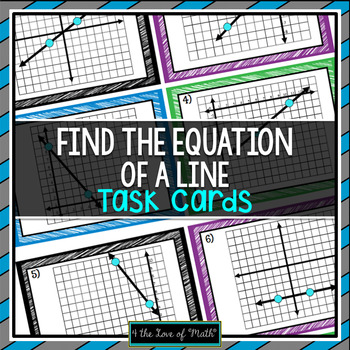 Find the Equation of the Line: 20 Task Cards
