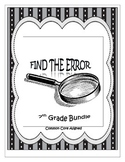 Find the Error Activities for the Year - 7th Grade Math En
