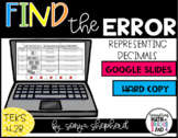 Find the Error - Decimal Representation - Distance Learning