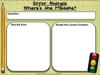 Find the Error - Error Analysis Blank Template