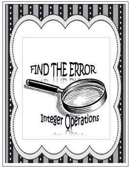 Find the Error - Integer Operations