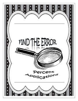 Find the Error - Percent Applications