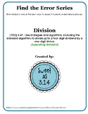 Find the Error Series - Division