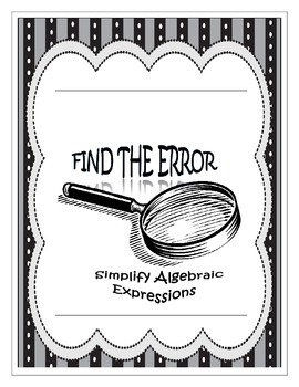 Find the Error - Simplify Expressions