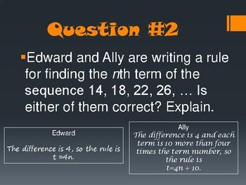 Find the Error! Pre-Algebra Review