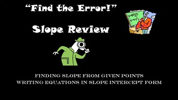 Find the Error! Slope Review