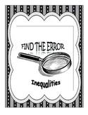 Find the Error - Solving Inequalities