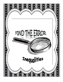 Find the Error - Solving Inequalities