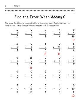 Find the Error When Adding 0