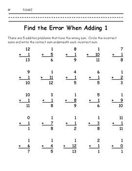 Find the Error When Adding 1