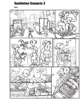 Find the Errors Comic; Sanitation Scenario 2; Culinary FACS, Food Safety Storage