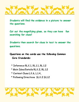 Find the Evidence in Pictures and Text