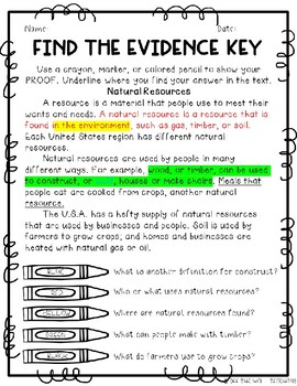 Find the Evidence: 4th Grade Texas History Edition