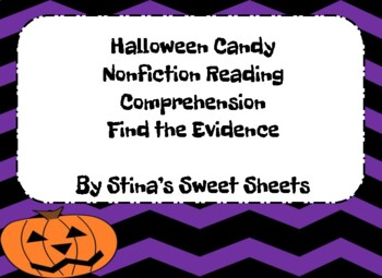Find the Evidence: Halloween Candy *FREE*