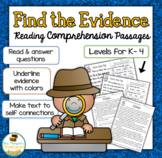Free Reading Comprehension Passages & Questions