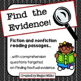 Finding Text Evidence: Reading Passages