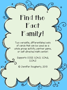 Find the Fact Family!