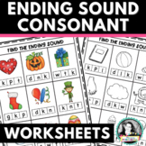Find the Final Consonant Sound Worksheets w/ Single Ending