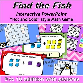 Find the Fish Interactive Math Game with 0 to 10 Addition with Pictures