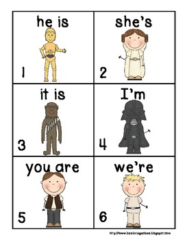 Find the Force- Contractions from Pronouns & Verbs... Classroom or Hallway Hunt!