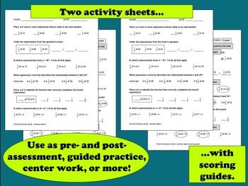Find the Fraction - fraction of a number task cards + printables (set b)