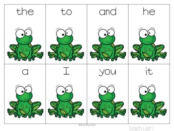 Find the Frog {Differentiated Sight Word Game}
