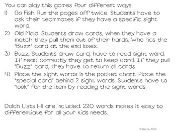Find the Gold {Sight Word Game}