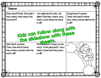 Find the Gold! St. Patrick's Day Addition & Subtraction PPT