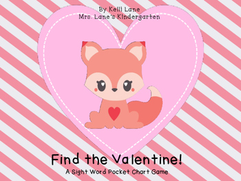 Find the Valentine!  A Valentine Sight Word Game