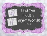 Find the Hidden Sight Words Set 4