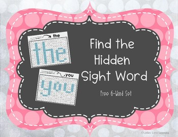 Find the Hidden Sight Words Free Set