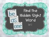 Find the Hidden Sight Words Set 2