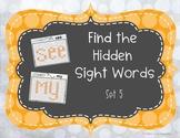 Find the Hidden Sight Words Set 5