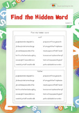 Find the Hidden Word (Visual Perception Worksheets)