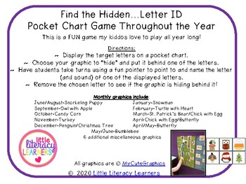 Find the Hidden...Letter ID Throughout the Year