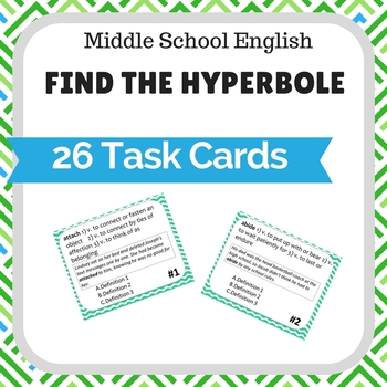 Find the Hyperbole Task Cards